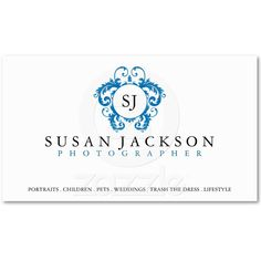 Crest Logo Photographers Business Card from Zazzle.com