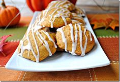 iced pumpkin cookie (eat yourself skinny)