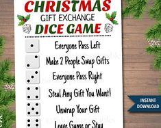 Christmas Gift Swap Christmas Gift Exchange Game Holiday | Etsy Christmas Gift Exchange Games, Christmas Games For Family, Cheap Christmas Gifts, Christmas Fun, Family Holiday, Xmas Games, Holiday Ideas, Christmas Countdown, Xmas Ideas