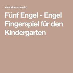 Fünf Engel - Engel Fingerspiel für den Kindergarten