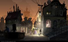 Visual development pieces and color keys for Hotel Transylvania | Illustrator: Noëlle Triaureau ... Great light and depth