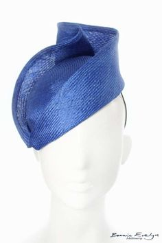 This is the perfect cobalt blue hat to wear with any number of outfits for special occasions or a day at the races! x (base) and at the heights point Millinery Hats, Fascinator Hats, Fascinators, Headpieces, British Hats, Crazy Hats, Cocktail Hat, Fancy Hats, Love Hat