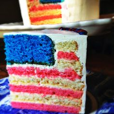 Confections of a (Closet) Master Baker - Flag cake!