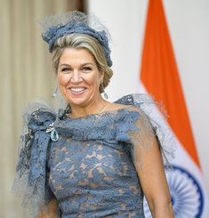 Warm welkom voor koningspaar in New Delhi - Blauw Bloed - Warm welkom voor koningspaar in New Delhi – Blauw Bloed - India Fashion, Royal Fashion, Runway Fashion, Fashion Tips, Japan Fashion, Street Fashion, Dutch Queen, Estilo Real, Surfer Girl Style