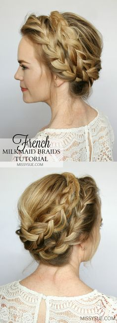 Crown braids are some of my absolute favorite hairstyles ever! They are great because they are not only a heatless style but great for everyday while still being soft and feminine. For this tutorial I will be showing you how to create a french braid…
