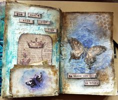 Jan 2014 - Love the sentiment Art Journal Pages, Junk Journal, Art Journals, Bullet Journal, Mixed Media Canvas, Mixed Media Art, Mix Media, Moleskine, Smash Book