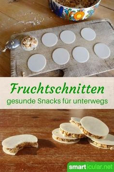 Muesli on the go - making nutty fruit bars yourself- Müsli für unterwegs – nussige Fruchtriegel selber machen Healthy eating and snacking do not go together? These delicious bars of dried fruit, nuts and oatmeal also taste good for children. Healthy Eating Recipes, Healthy Foods To Eat, Baby Food Recipes, Healthy Snacks, Snack Recipes, Healthy Life, Muesli, Food To Go, Food And Drink