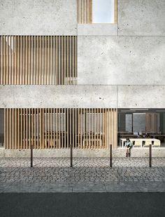 MIMA . Brut . pôle d'accueil restaurant prévention & hygiène . Nantes (3) (How To Build A Shed On Concrete)