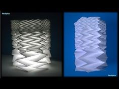 Paper cylinder with Fractal Fold - Hexagon - YouTube