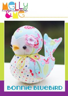 Bonnie Bluebird Stuffed Toy Pattern