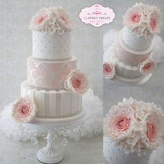 Vintage Peonies - by cjsweettreats @ CakesDecor.com - cake decorating website