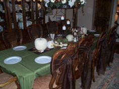 Thanksgiving Table after Decorated