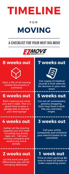 Don't wait 'til the last minute! Take a look at this infographic that will help you plan your move