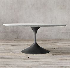 Aero Marble Round Dining Table Comes in brass as well and oval More