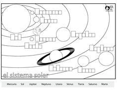 solar system spanish