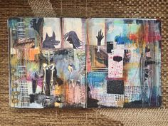 """""""but, they are like us"""" - journal spread by artist: Roxanne Coble"""