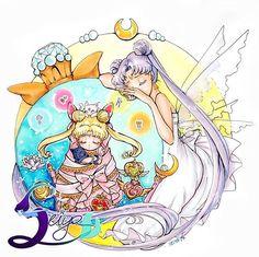 Queen Serenity and Princess Serenity by Seiya #セーラームーン展 #セーラームーン #sailormoon90s #sailormooncrystal #usagi #usagitsukino #chibiusa #smalllady#sailormoon #serenity #endymion #princessserenity #princeendymion #neoqueenserenity #kingendymion #tuxedomask #sailormars #sailormercury #sailorsaturn #sailorneptune #sailoruranus #sailorpluto #sailorscouts #sailorsenshi #kawaii #luna #sailorvenus #sailojupiter #sailorcosmos