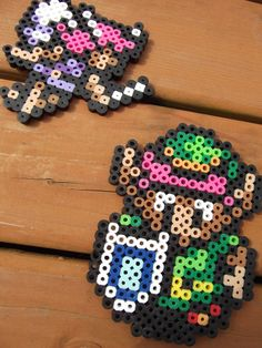 Link and Fairy Perler Sprites by Geisha-Neko.deviantart.com on @deviantART