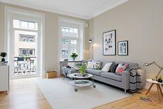 living room with beautiful balcony #nordic #interior