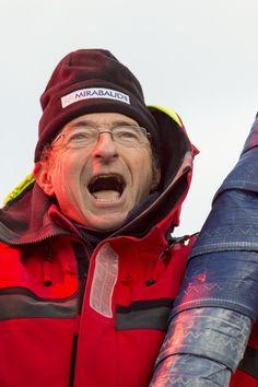 Vendée Globe 2012 : arrivée de Dominique Wavre sur Mirabaud (Photo de Vincent Curutchet / Dark Frame / DPPI)