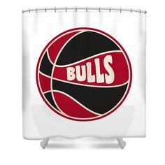 Bulls Shower Curtain Featuring The Photograph Chicago Retro Shirt By Joe Hamilton