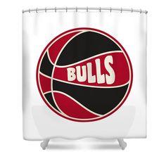 Bulls Shower Curtain Featuring The Photograph Chicago Retro Shirt By Joe Hamilton