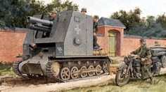 sIG 33 auf PzKpfw I Ausf. B Bison I - sIG Kompanie (mot. S) 702, 1 Panzer Division Francia 1940. Ron Volstad. Más en www.elgrancapitan.org/foro