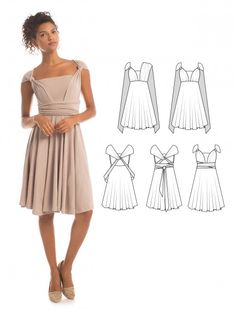 Essential Infinity Dress in Atmosphere - How to wrap an infinity dress - The perfect bridesmaid dress