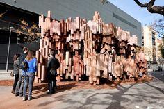 Corrugated Cardboard Pavilion by Miguel Arraiz García / David Moreno Terrón | Gallery | Archinect