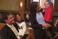 Peter Hermann  on the set with Mariska Hargitay and  his daughter  Amaya and son Andrew  so adorable