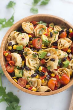 """Another pasta salad we would like to recommend to you guys is tortellini salad. Actually, tortellini is easy to grasp your eyes with the appearance (ring-shaped, sometimes also described as """"navel shaped"""", or named """"belly button""""). This pasta combine Easy Pasta Salad Recipe, Pasta Recipes, Cooking Recipes, Cooking Bowl, Healthy Pasta Salad, Spinach Recipes, Cooking Tips, Pasta Salad With Tortellini, Pesto Pasta"""