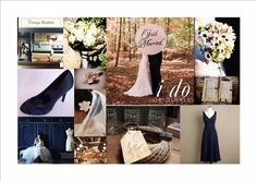 blush pink and navy blue wedding - Google Search