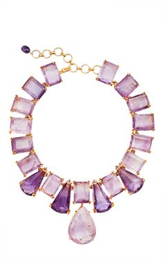 Inspired by nature and ancient Moroccan design, **Bounkit** combines vibrant colors and unique shapes for an elegant and exotic jewelry collection. Purple Statement Necklace, Amethyst Necklace, Pendant Necklace, Statement Necklaces, Amethyst Stone, Purple Amethyst, Pear Drops, Crown Jewels, Shades Of Purple