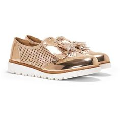 Nasty Gal Hole Lotta Love Metallic Brogue