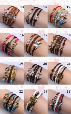 Pulseras Con Dijes, Bisutería De Moda, Ideal Para Regalos - Bs. Diy Bracelets Easy, Bracelet Crafts, Cute Bracelets, Bracelets For Men, Fashion Bracelets, Jewelry Bracelets, Hippie Jewelry, Beaded Jewelry, Cowgirl Jewelry