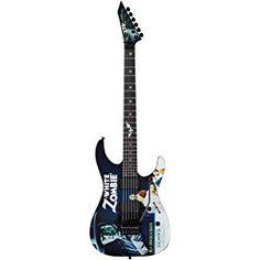 ESP LTD Kirk Hammett Signature White Zombie Graphic Electric Guitar