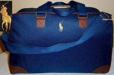 c7bcdc2c0482 NEW RALPH LAUREN PONY POLO DESIGNER DUFFLE TRAVEL WEEKEND SPORTS GYM