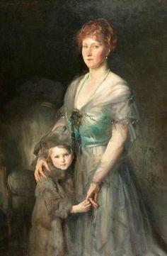 John Singer Sargent (USA, - Mrs Duxbury and Daughter - oil on canvas x cm - Manchester Art Gallery. John Singer Sargent, Sargent Art, Manchester Art, City Gallery, Internet Art, Royal Academy Of Arts, Art Uk, Art For Art Sake, Museum Of Fine Arts