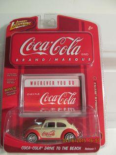 Johnny Lighting Coca Cola 1966 Volkswagen Beetle 1/64th