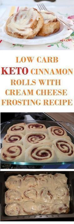 Low-Carb Keto Cinnamon Rolls with Cream Cheese Frosting