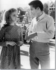 "Elvis Presley and Ann-Margret on the set of ""Viva Las Vegas"""