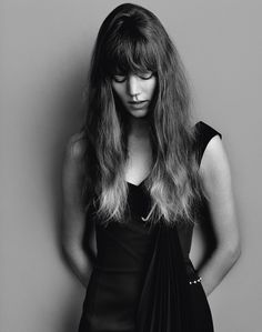 Freja Beha Erichsen wears dress Anthony Vaccarello.