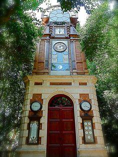 """Lost in a Forest all alone! Clock & Meteorological Station """"La Torre del Reloj"""" (1883) in the Ca l'Arnús Public Garden in Badalona Barcelona Spain by Arjan Richter"""