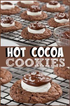 hot cocoa cookies holiday cookie recipescookie