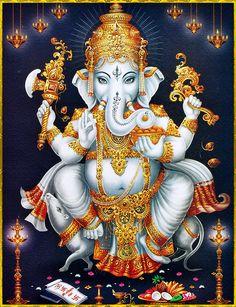 Sri Ganesh, Ganesh Lord, Lord Shiva, Ganesha Tattoo, Ganesha Art, Ganesh Images, Ganesha Pictures, Shiva Art, Hindu Art