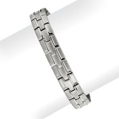 Titanium Polished and Brushed Bracelet - 8.25 Inch - JewelryWeb JewelryWeb. $57.00