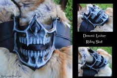 Leather Demonic Skull Motorcycle Riding Mask by Epic-Leather on DeviantArt
