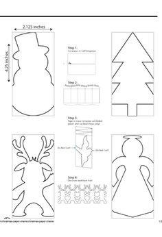 Trying to make paper garlands? These are super easy to make and they look so cute! Christmas Paper Chains, Christmas Tree Garland, Handmade Christmas Decorations, Noel Christmas, Christmas Crafts For Kids, Holiday Crafts, Paper Snowflake Template, Paper Snowflake Patterns, Paper Snowflakes
