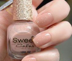 Sweet Color Non-Toxic Environmental Friendly 12ml Nail Polish - Nude