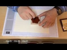 Painting on Stamps with Sponge Daubers - YouTube